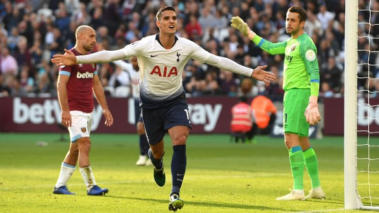 Erik Lamela has been directly involved in eight Tottenham goals despite starting just four games.