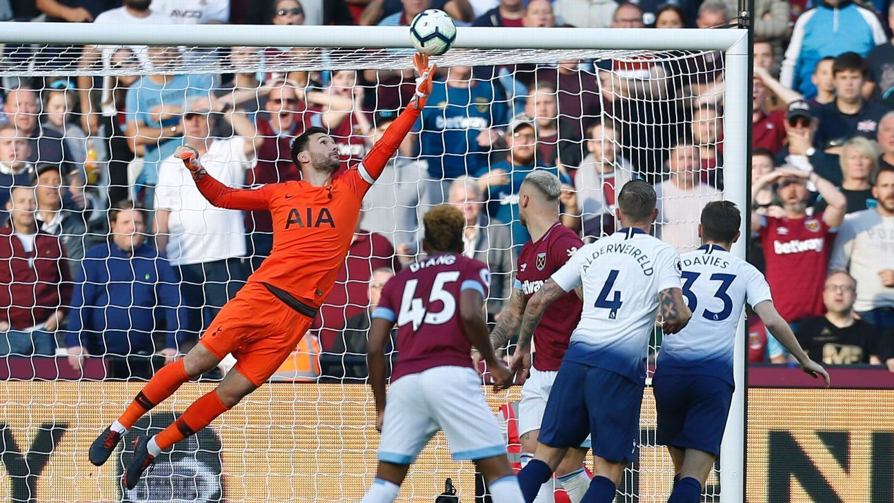 Tottenham's Hugo Lloris made a save from West Ham's Marko Arnautovic to help his side secure the win