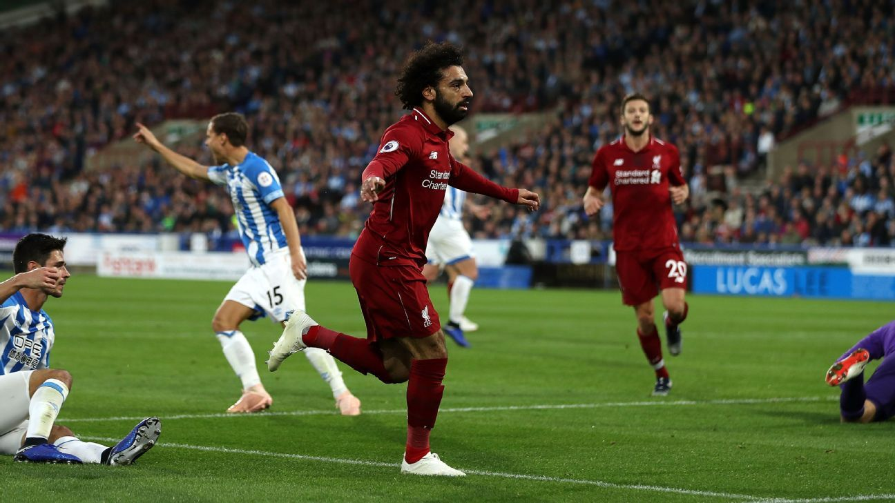 Mohamed Salah has yet to really get going this season but his performance vs. Huddersfield hinted he's close.