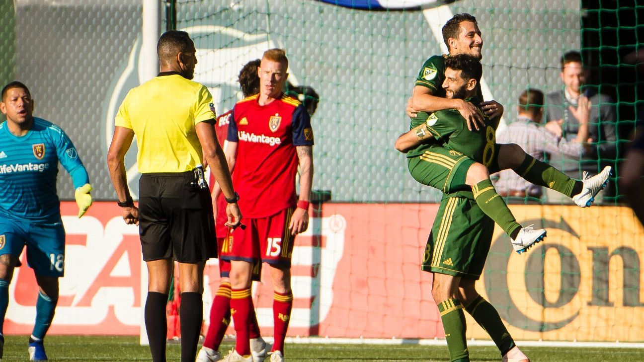 Portland Timbers seal MLS Cup playoff place with 3-0 win over Real Salt Lake