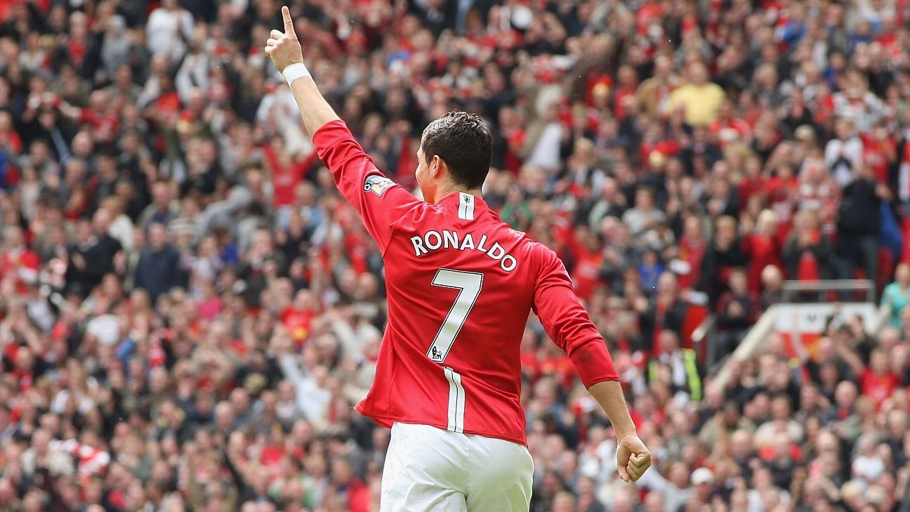 Cristiano Ronaldo won the Ballon d'Or during his last season as Manchester United's No. 7