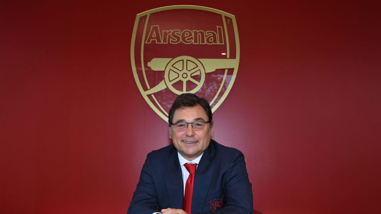 Arsenal's head of football, Raul Sanllehi