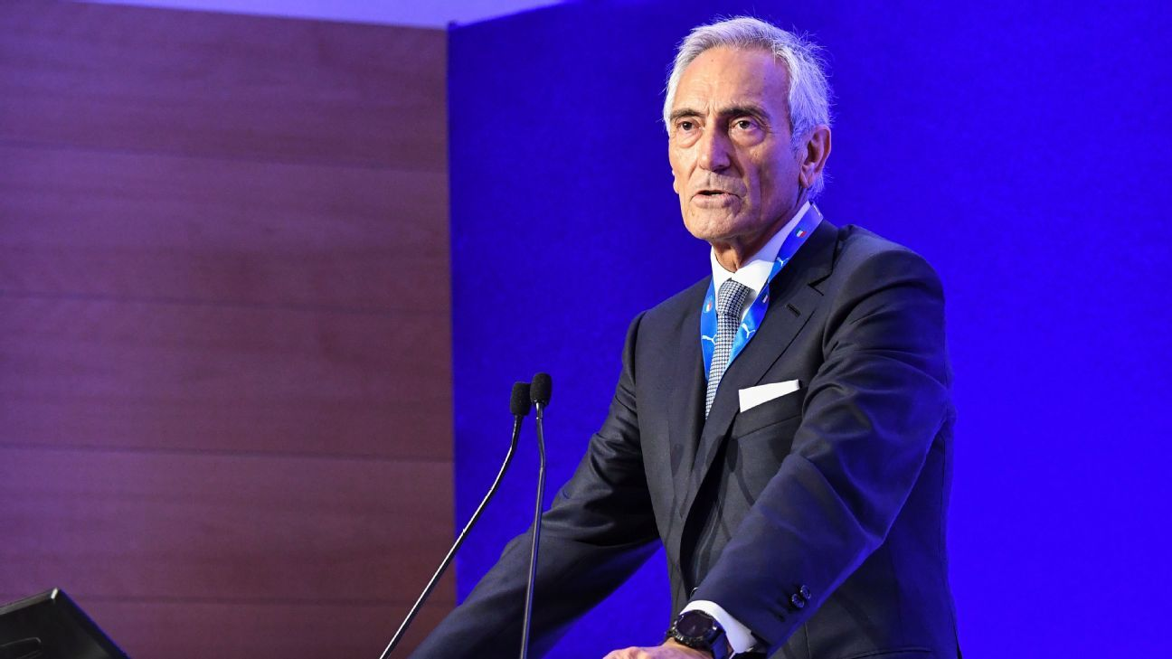 New president of the Italian Football Federation (FIGC), Gabriele Gravina