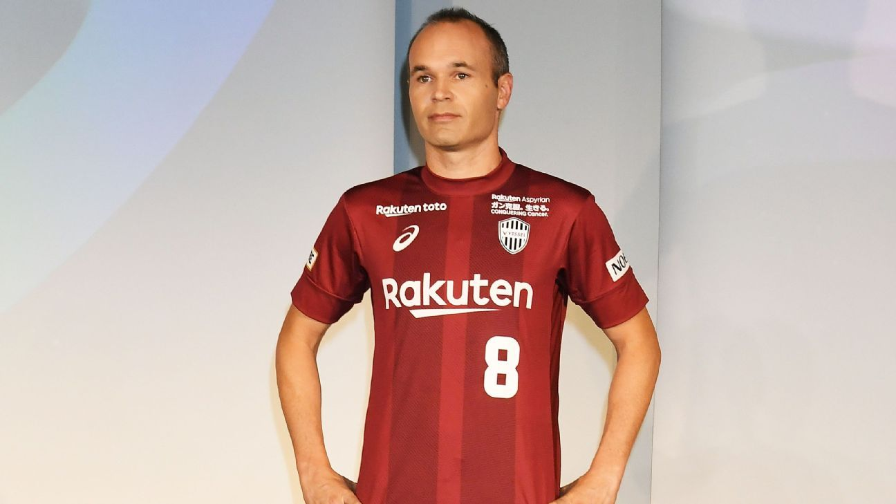 Andres Iniesta with Japanese side Vissel Kobe