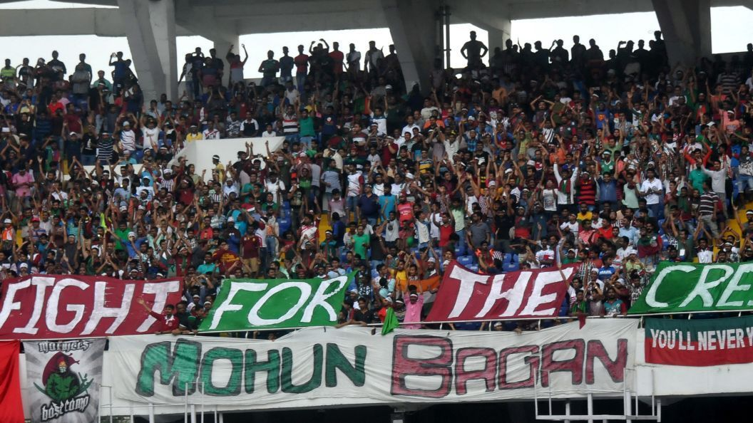Mohun Bagan fans during Kolkata derby