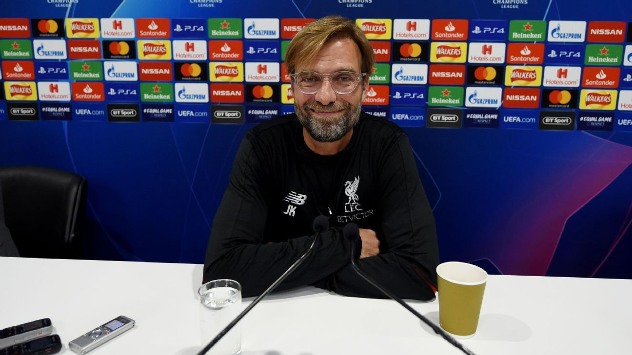 Jurgen Klopp speaks ahead of Liverpool's Champions League group game against Red Star Belgrade.