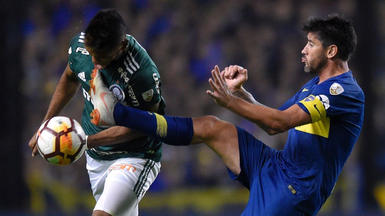 It was rough going for Palmeiras in their Copa Libertadores semifinal first leg against Boca Juniors.