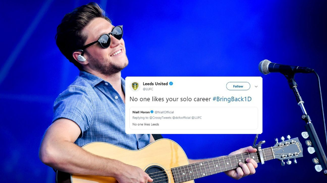 Leeds United response to Niall Horan's tweet about them was withering