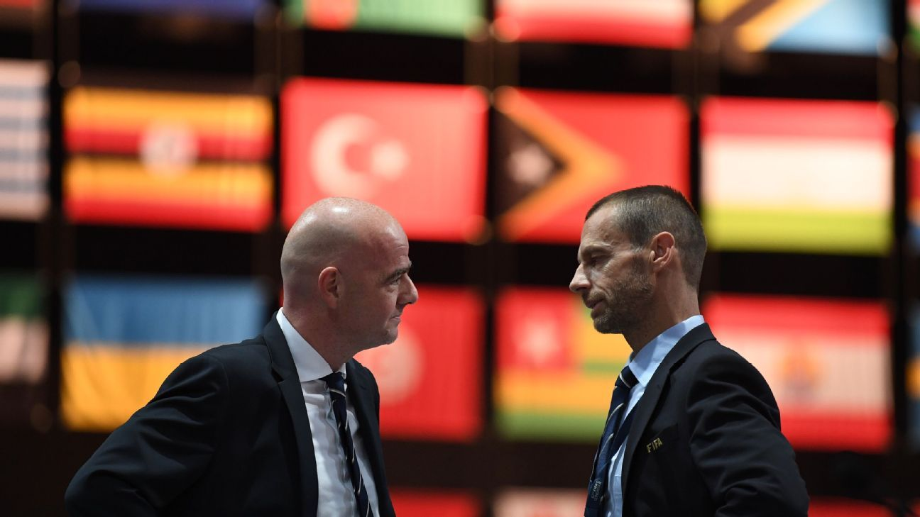 Infantino and Ceferin are seemingly at loggerheads regarding their relationship and the fall-out in Friday's meeting could change soccer forever.
