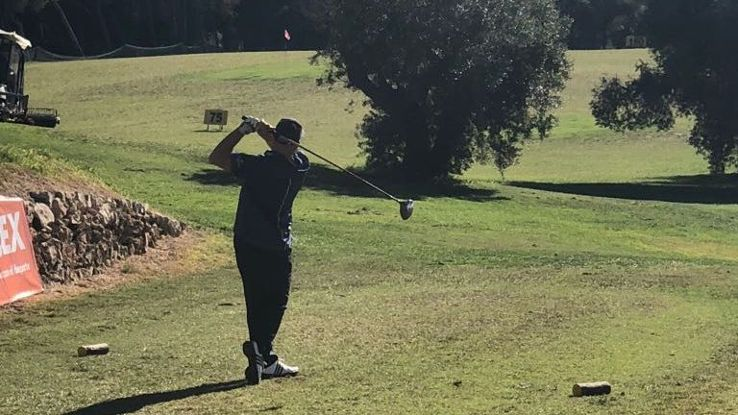 Albert 'Chapi' Ferrer, who represented Barcelona for nearly a decade, tees off in Thursday's clasico golf tournament.