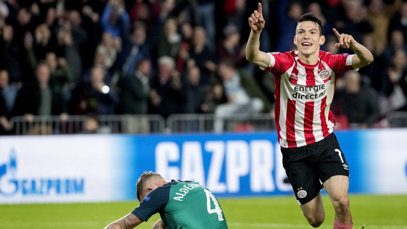Hirving Lozano was instrumental in PSV's dramatic draw with Tottenham in Tuesday's Champions League game.
