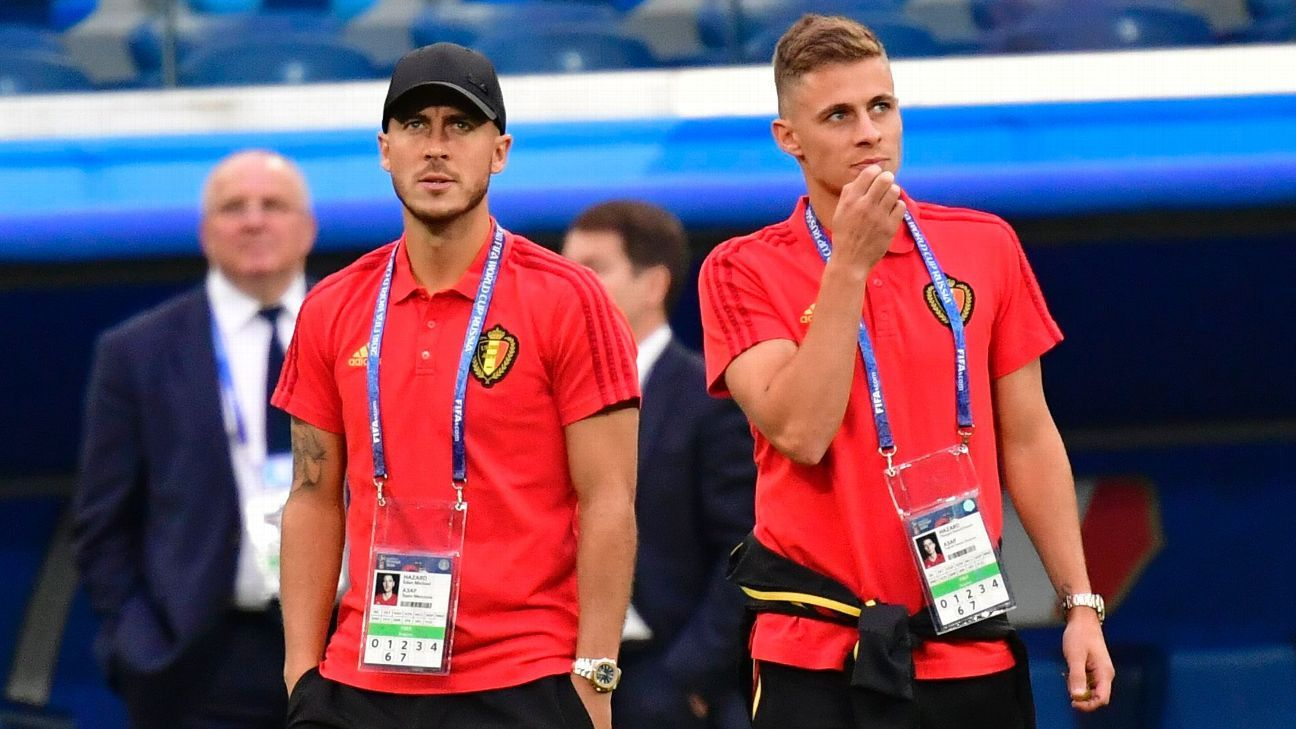 Belgium teammates Eden Hazard and Thorgan Hazard