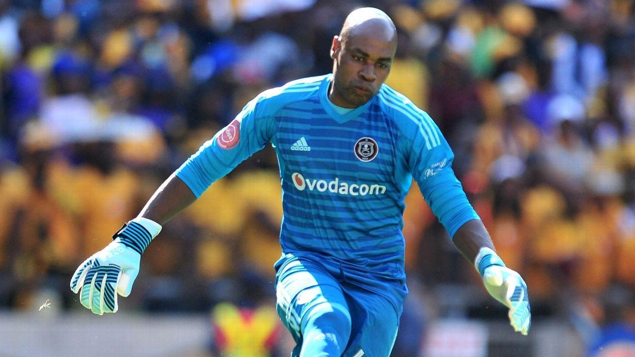 Orlando Pirates goalkeeper Siyabonga Mpontshane