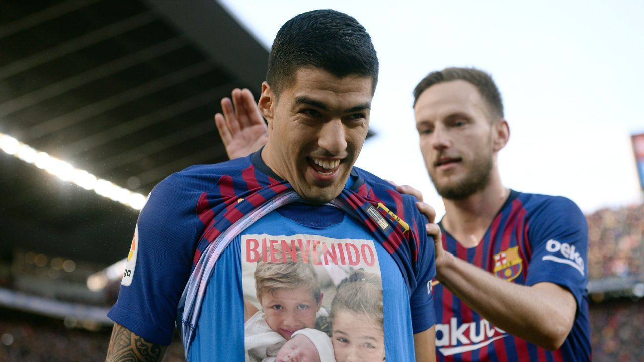 Luis Suarez had a special message for newborn son Lauti after scoring against Real Madrid.