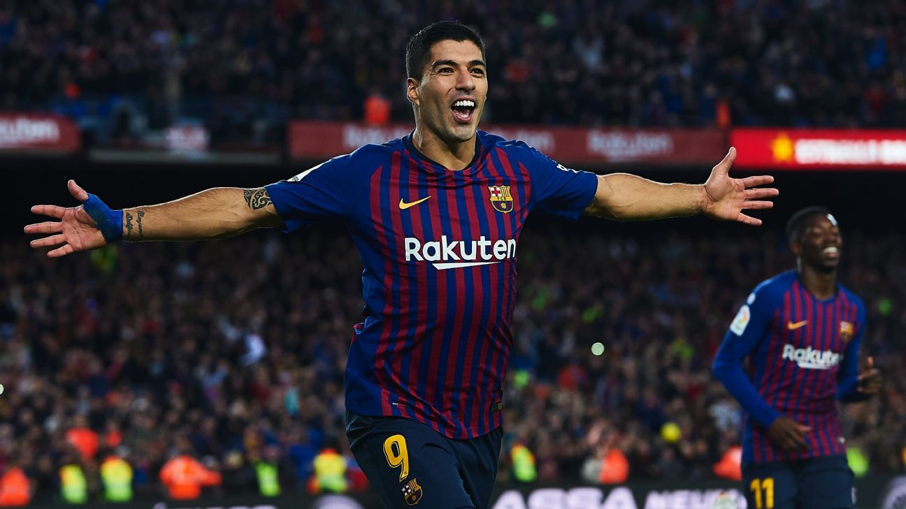 Luis Suarez has stepped up magnificently in Lionel Messi's absence and nowhere was that more evident than in Sunday's Clasico.