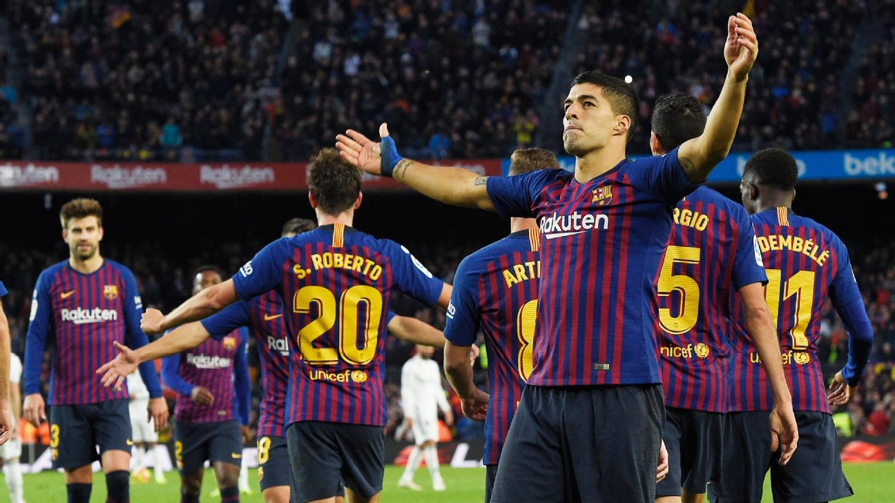 It didn't seem as though Luis Suarez could step up in Lionel Messi's absence but a superb hat-trick vs. Real Madrid showed he's more than capable.