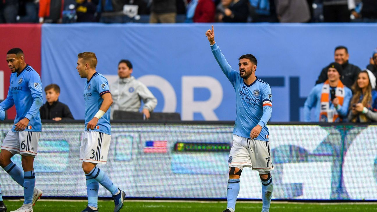 David Villa scores as NYCFC top Union to claim East's No. 3 seed