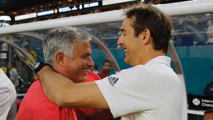 Manchester United boss Jose Mourinho overcame Julen Lopetegui's Real Madrid in the 2018 International Champions Cup