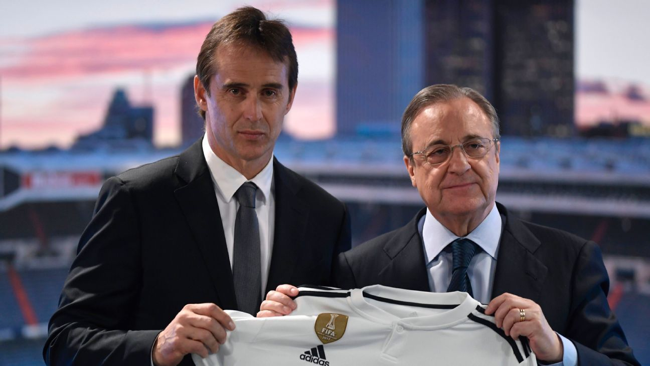Lopetegui also failed to calculate the mood of Real's president Perez, right, and his willingness to quickly change course if all was not well at the storied club.