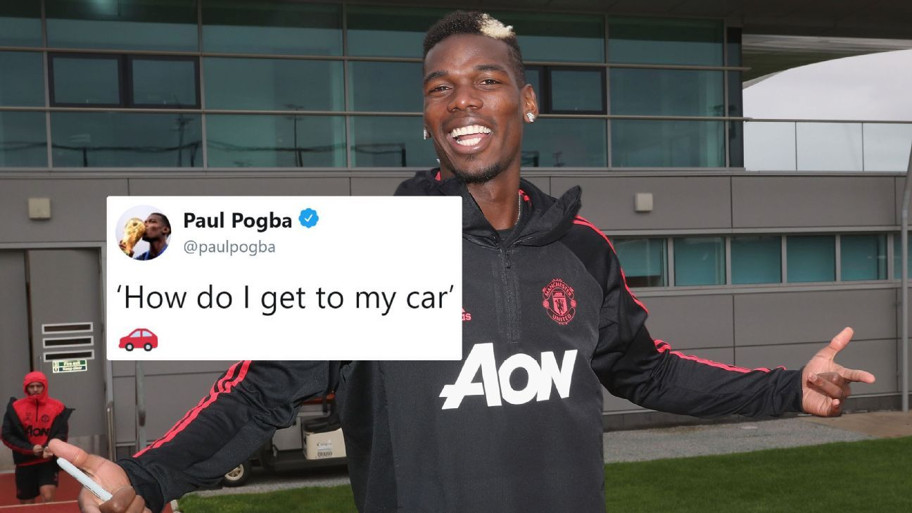 Paul Pogba posted a video in which he made light of the recent fuss over his elaborate penalty run-up