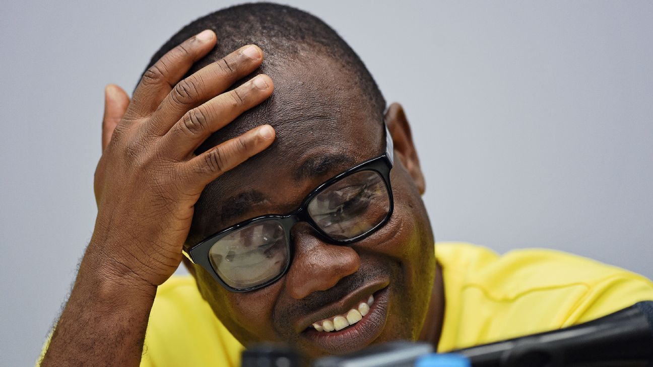 Forgmer president of the Ghana Football Association, Kwesi Nyantakyi, fronts up to the media
