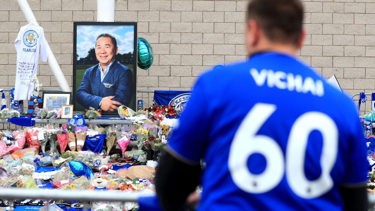 Leicester, who confirmed Saturday's league match at Cardiff City would go ahead as scheduled, opened a book of condolence for fans to pay tribute at the stadium on Tuesday.