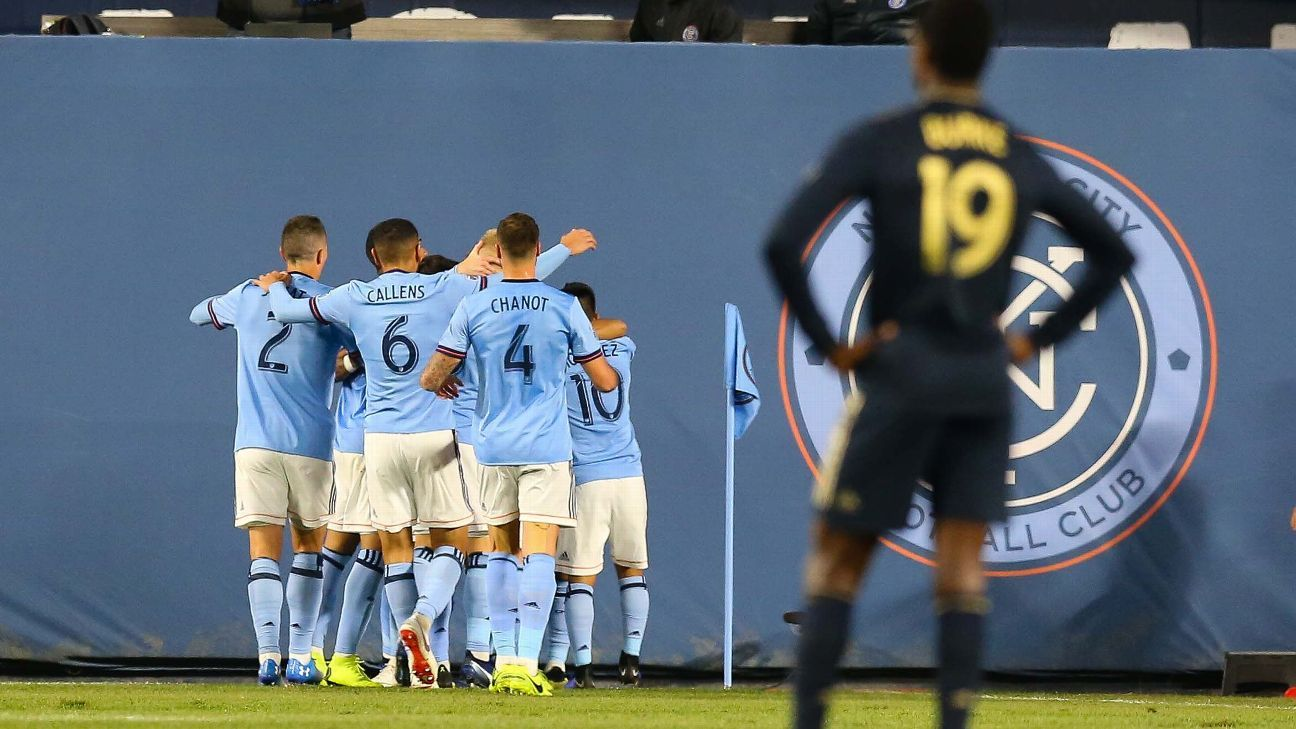 Maxi Moralez leads New York City FC to playoff win over Philadelphia Union