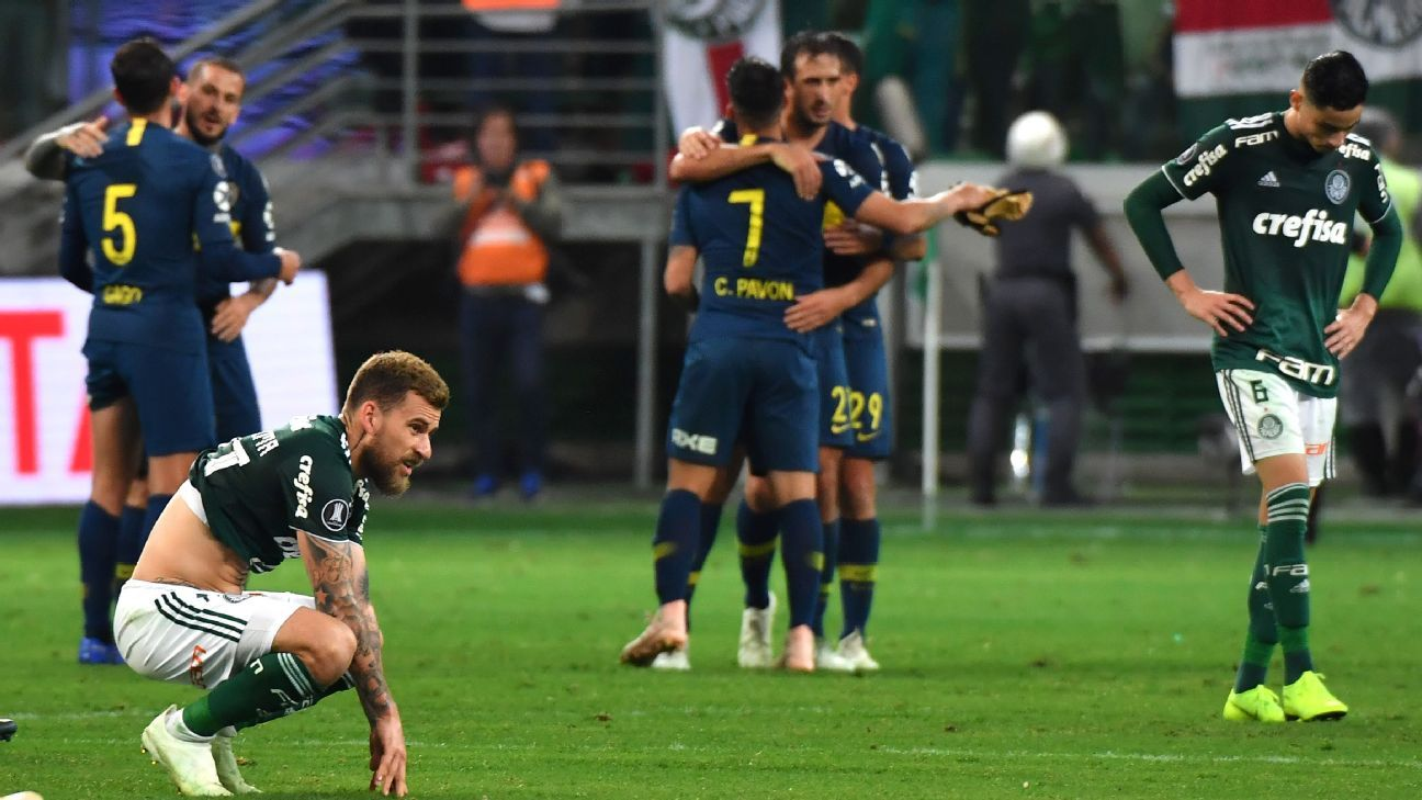 Palmeiras lost 4-2 on aggregate to Argentina's Boca Juniors in their 2018 Copa Libertadores semifinal.
