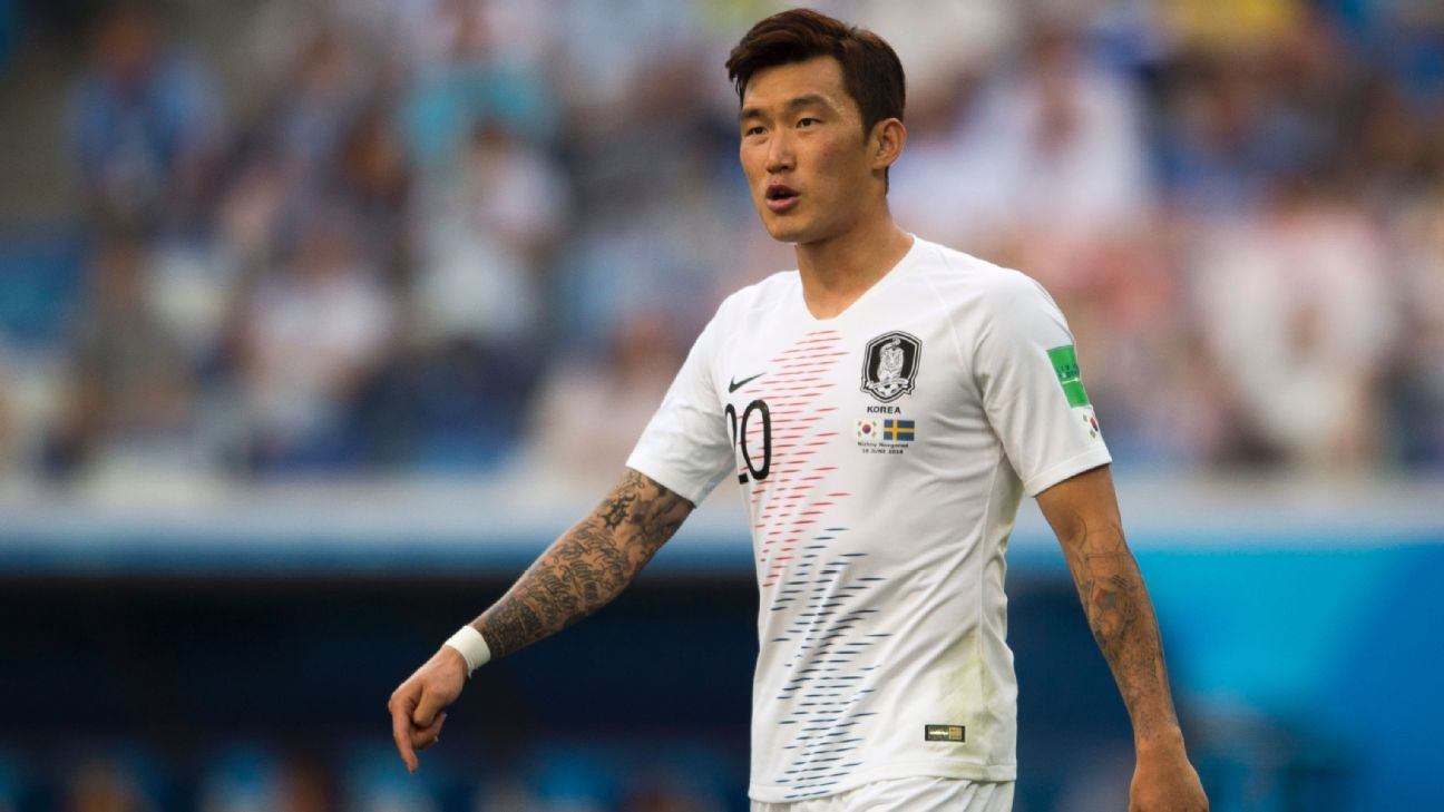 Jang Hyun-soo South Korea played in all three of Korea's games at the World Cup in Russia.