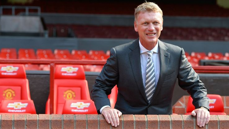 David Moyes replaced Sir Alex Ferguson as manager at Manchester United in 2013