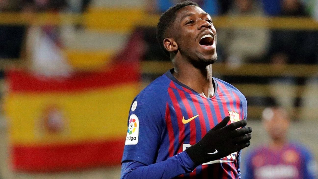 FC Barcelona's French forward Ousmane Dembele
