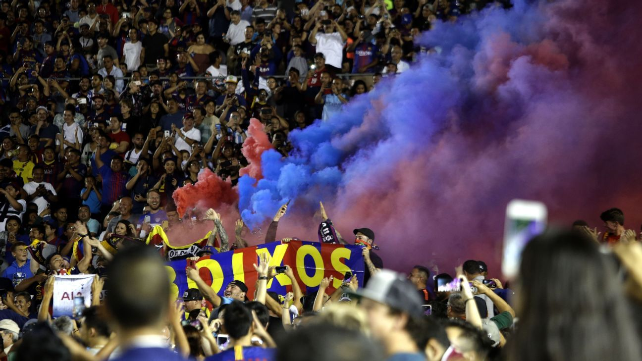 Barca's Boixos Nois are formally banned from attending home matches.