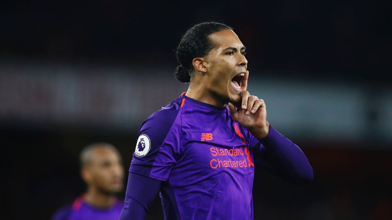 Virgil van Dijk delivered one of his best all-round performances with Liverpool, even adding three shots at goal.