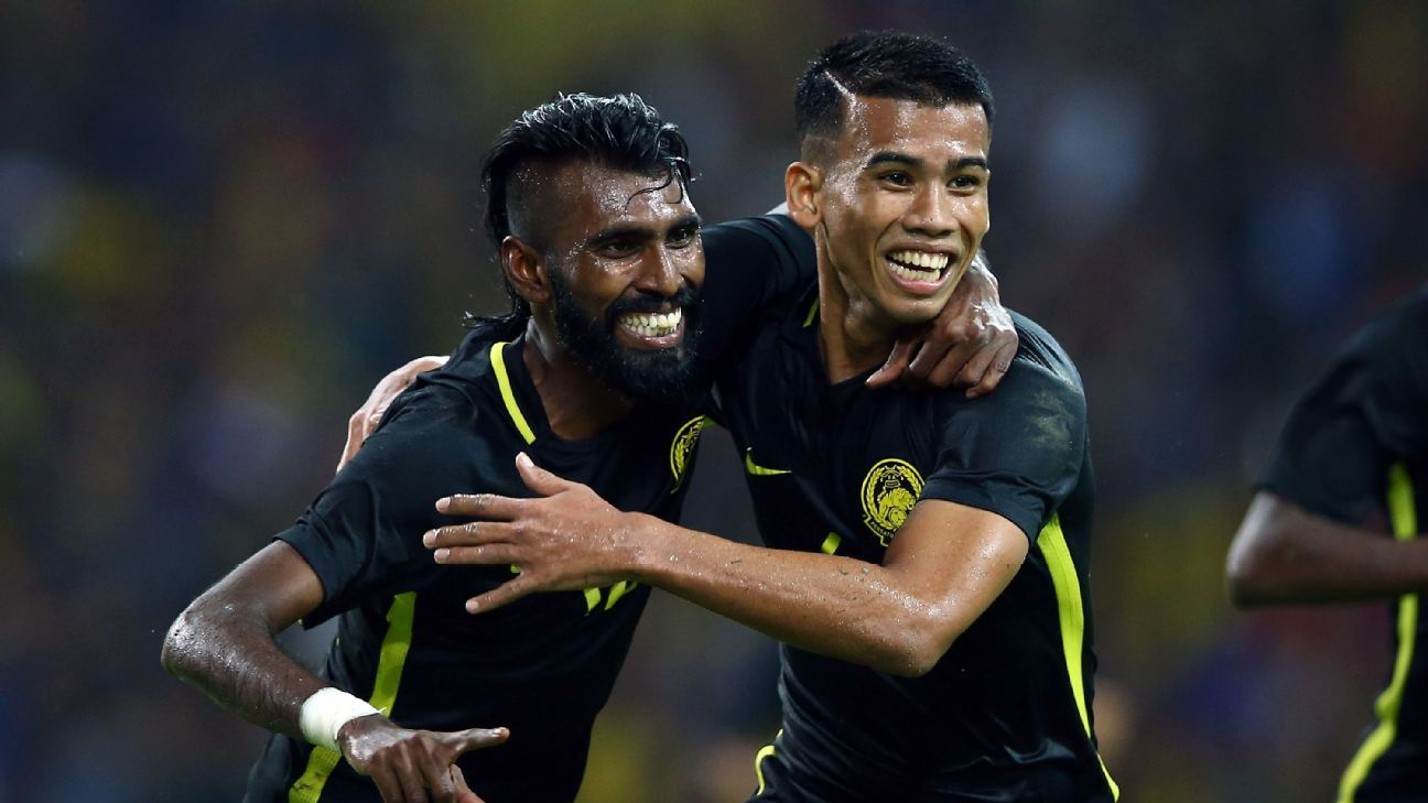 Safawi Rasid, right, will be key to Malaysia's AFF Cup chances.