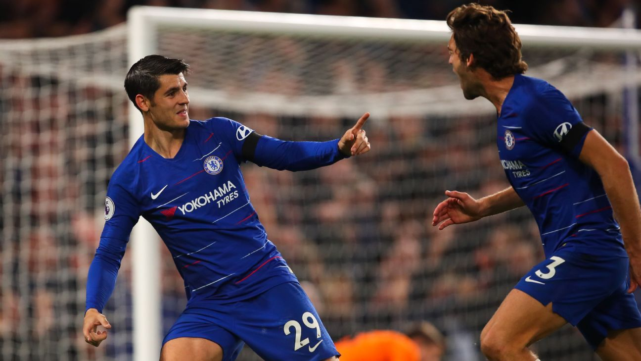 Chelsea's Alvaro Morata missed a chance to get a hat trick against Crystal Palace on Sunday but his two goals showed he has regained his touch.