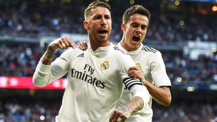 Ramos, left, is the emotional and spiritual leader at Real Madrid and he needs to set the tone with which the players get the club back on track.