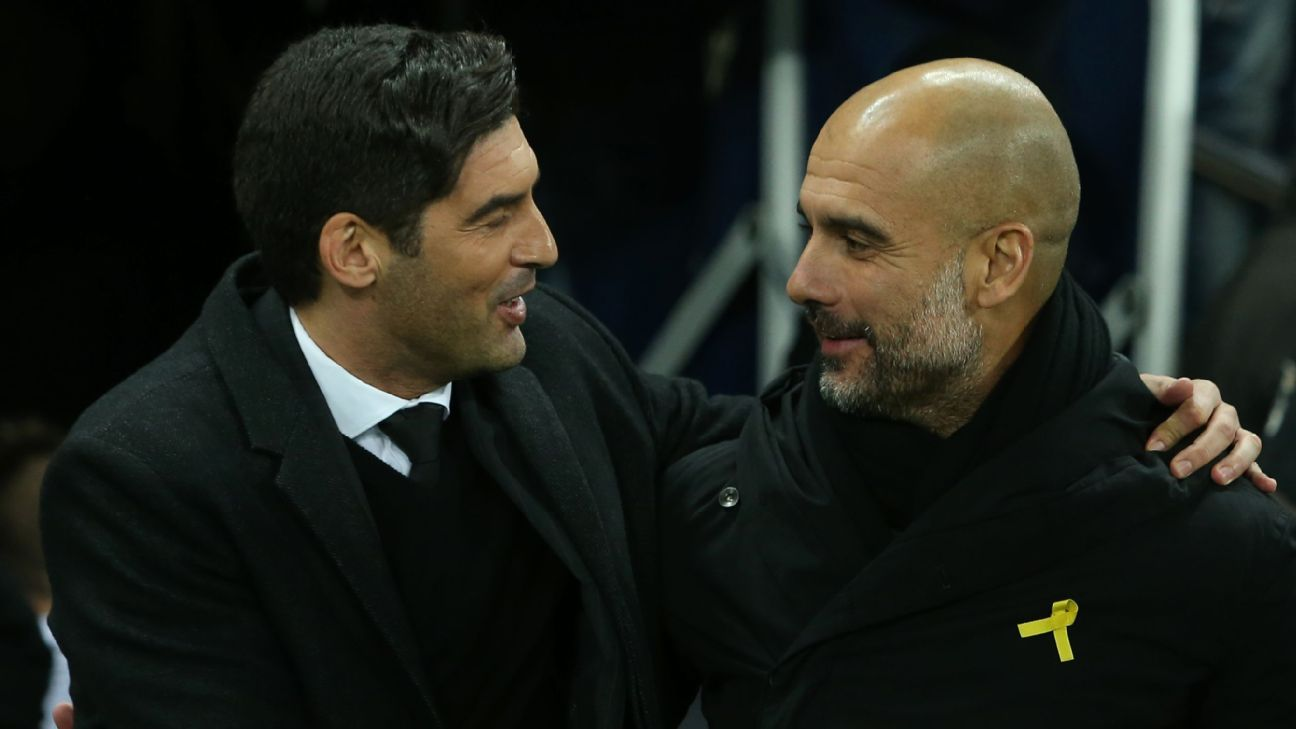 Paulo Fonseca and Pep Guardiola