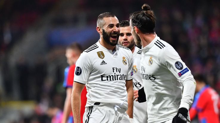 Karim Benzema had two goals in Real Madrid's rout of Viktoria Plzen on Wednesday night.