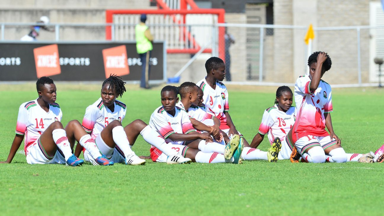 Kenya women dejected during the 2017 COSAFA Women's Championship