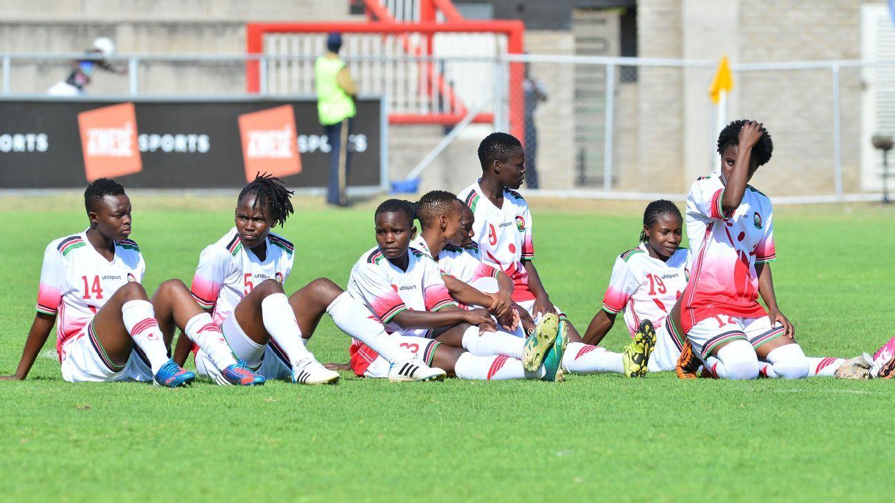Kenya women dejected during the 2017 COSAFA Women's Championship