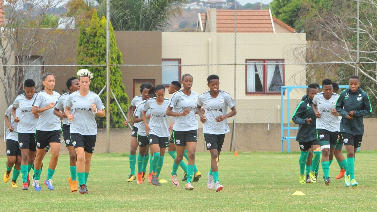South Africa's players have been training together in Johannesburg in preparation for the trip to Ghana for the Africa Women Cup of Nations.