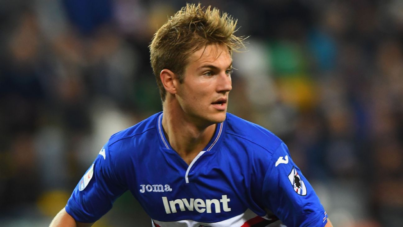 Joachim Andersen signed for Sampdoria from Dutch club Twente in 2017