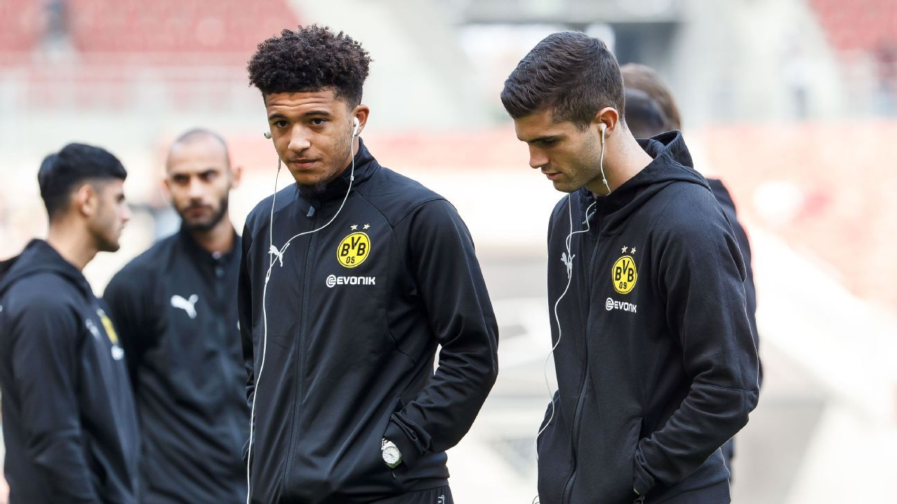 Jadon Sancho and Christian Pulisic have been two of Borussia Dortmund's star players this season.
