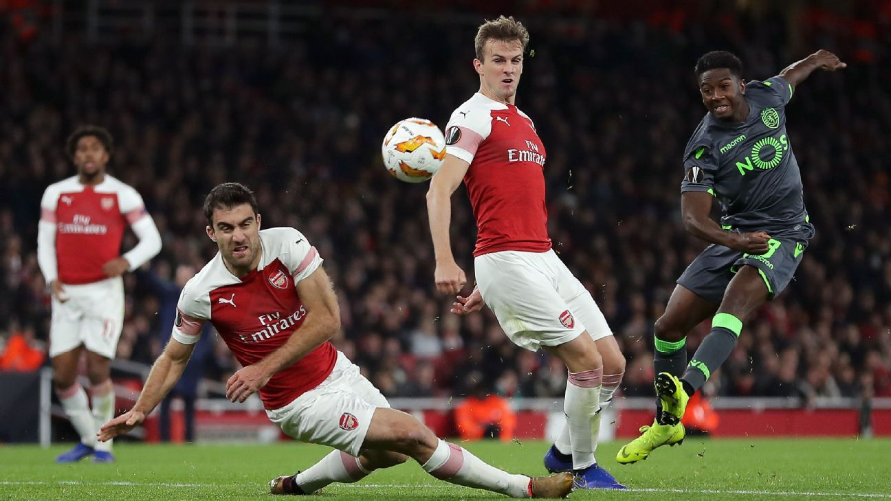 Sokratis Papastathopoulos was the pick of the litter for Arsenal vs. Sporting and has been the club's best defender all season.