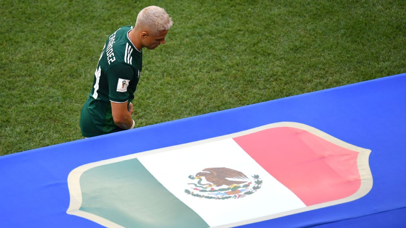 Javier Hernandez has not appeared in a Mexico kit since walking off the pitch following the squad's loss to Brazil at the World Cup.