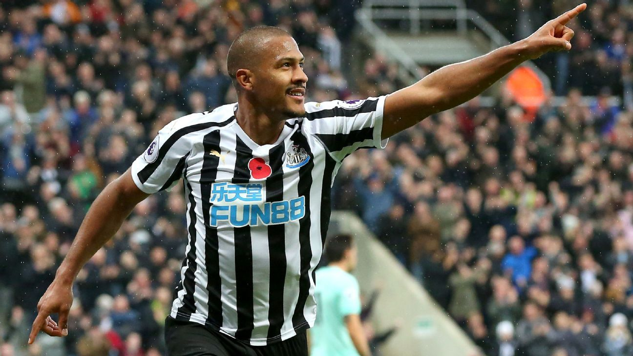 Salomon Rondon scored his first two league goals with Newcastle in a vintage centre-forward display.