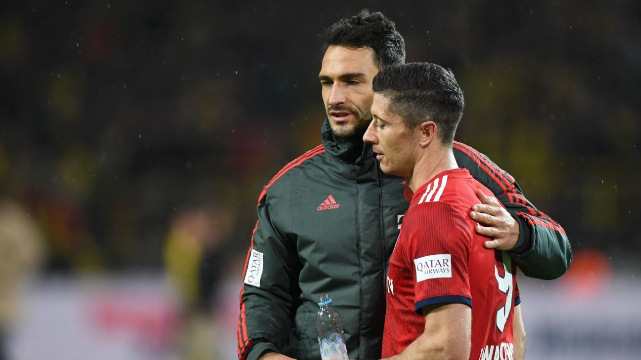 Mats Hummels and Robert Lewandowski