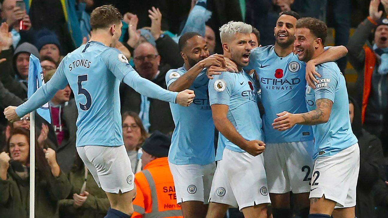 Manchester is blue as Man City had little trouble with Man United on Sunday.