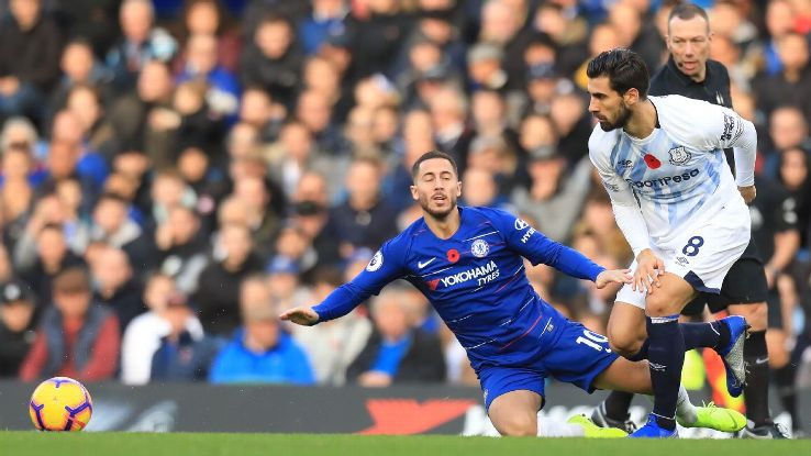 Eden Hazard and Chelsea had chances but ultimately couldn't quite find the breakthrough against Everton.