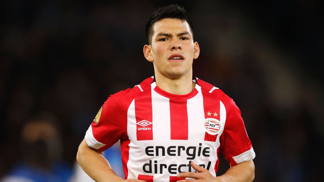 Hirving Lozano in action for PSV Eindhoven